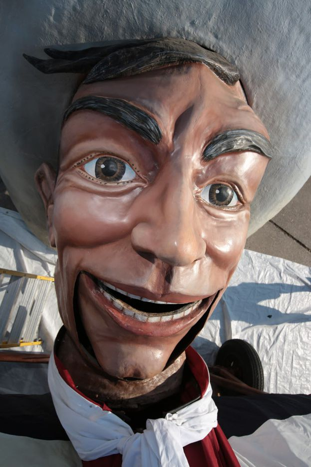 Big Tex's head before it was lifted in 2012.