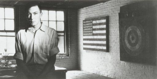 Undated photograph of artist Jasper Johns early in his career