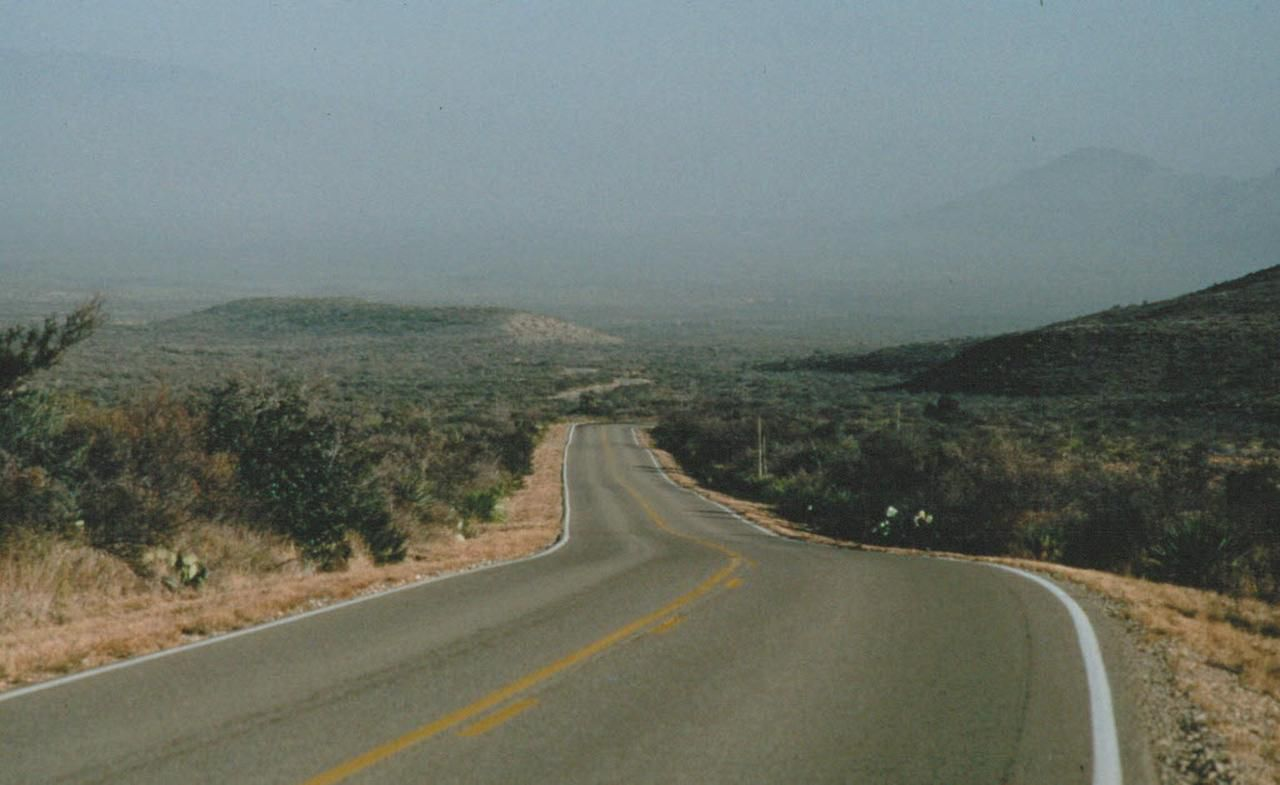 This hazy view shows Big Bend National Park on a bad-quality air day. Although the Trans-Pecos Pipeline would not pass through Big Bend National Park, the park stands to benefit. Much of its haze comes from dirty coal plants in Mexico. The pipeline would allow Mexico to shutter those plants in favor of the cleaner natural gas.