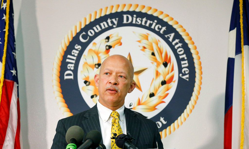 District Attorney John Creuzot held a press conference at the Frank Crowley Courthouse in Dallas, a day after he announced that Dallas County will move away from Ã'criminalizing povertyÓ. He's outlined a reform plan to decriminalize low-level crimes and decrease the use of excessive probation and bail, Friday, April 12, 2019.  (Tom Fox/The Dallas Morning News)