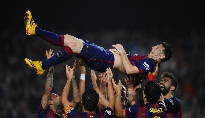 Lionel Messi anotó tres goles el martes con el Barcelona frente al APOEL en la Champions. (AP/Manu Fernandez)