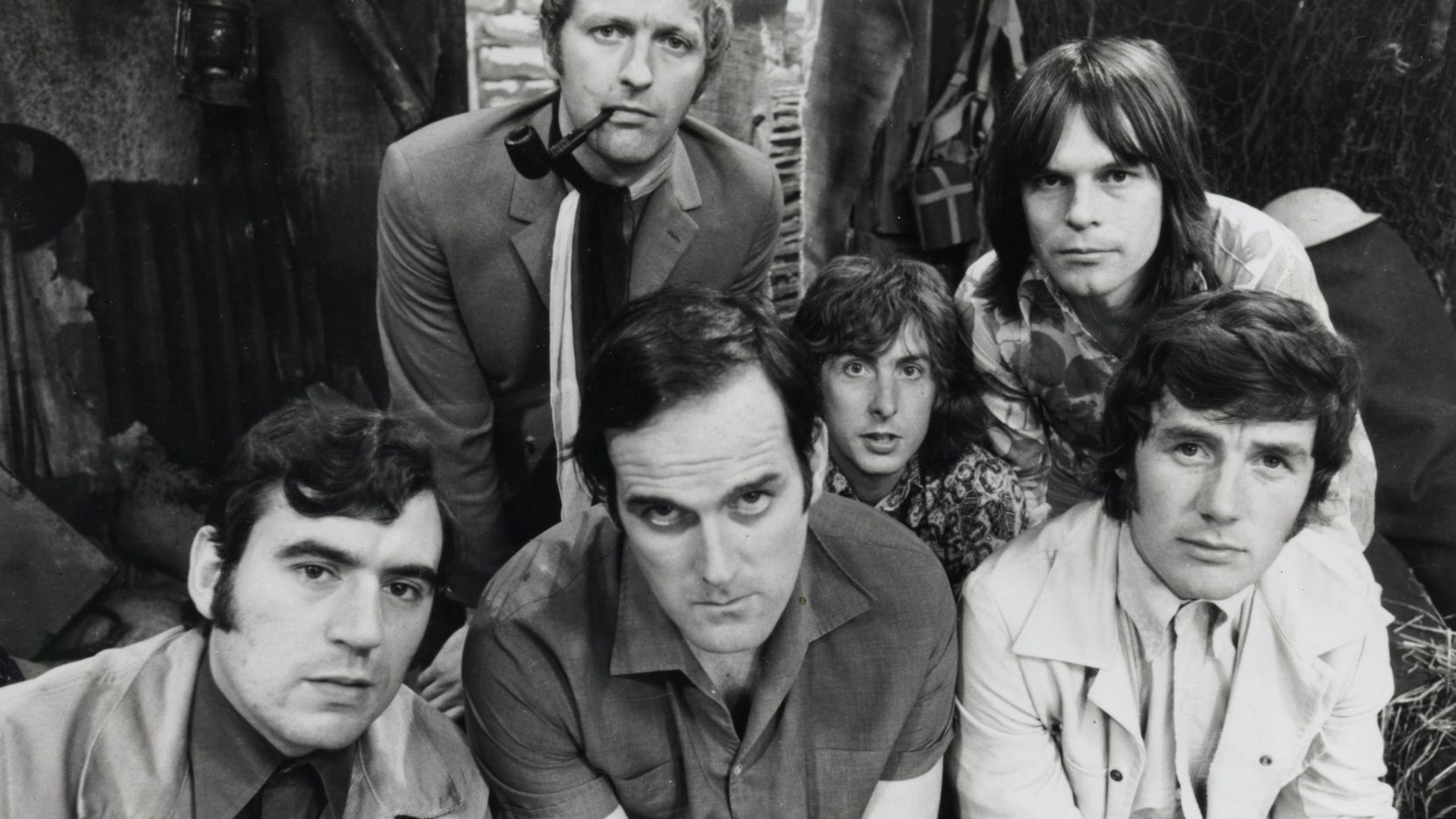 Monty Python's members as they looked 50 years ago, when the Flying Circus debuted on the BBC. Bottom from left, Terry Jones, John Cleese and Michael Palin, and top from left, Graham Chapman, Eric Idle and Terry Gilliam