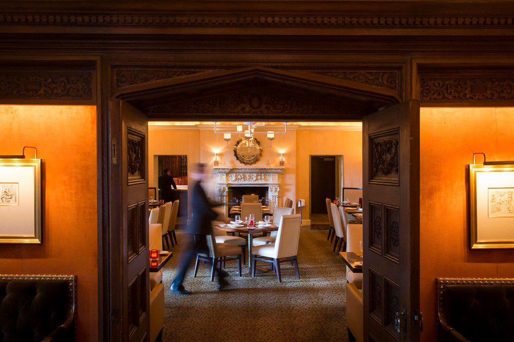A view into from the Library into the main dining room at the Mansion Restaurant, which has a new executive chef -- Tom Parlo. (Smiley N. Pool/The Dallas Morning News)