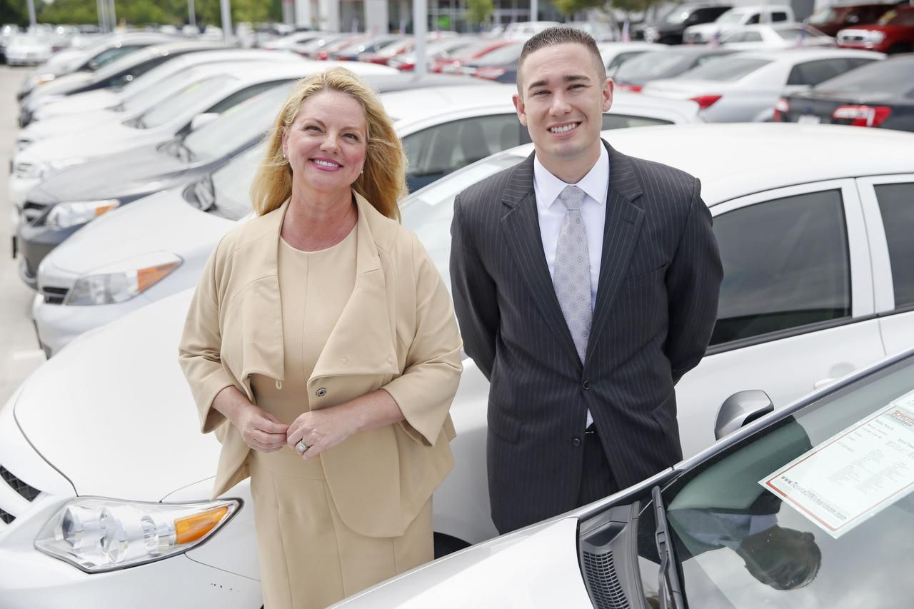 """Michelle Corson often goes through Brian Pacheco of Toyota of Richardson for cars. """"There is so much bad lending going on with people in difficult situations,"""" he says."""
