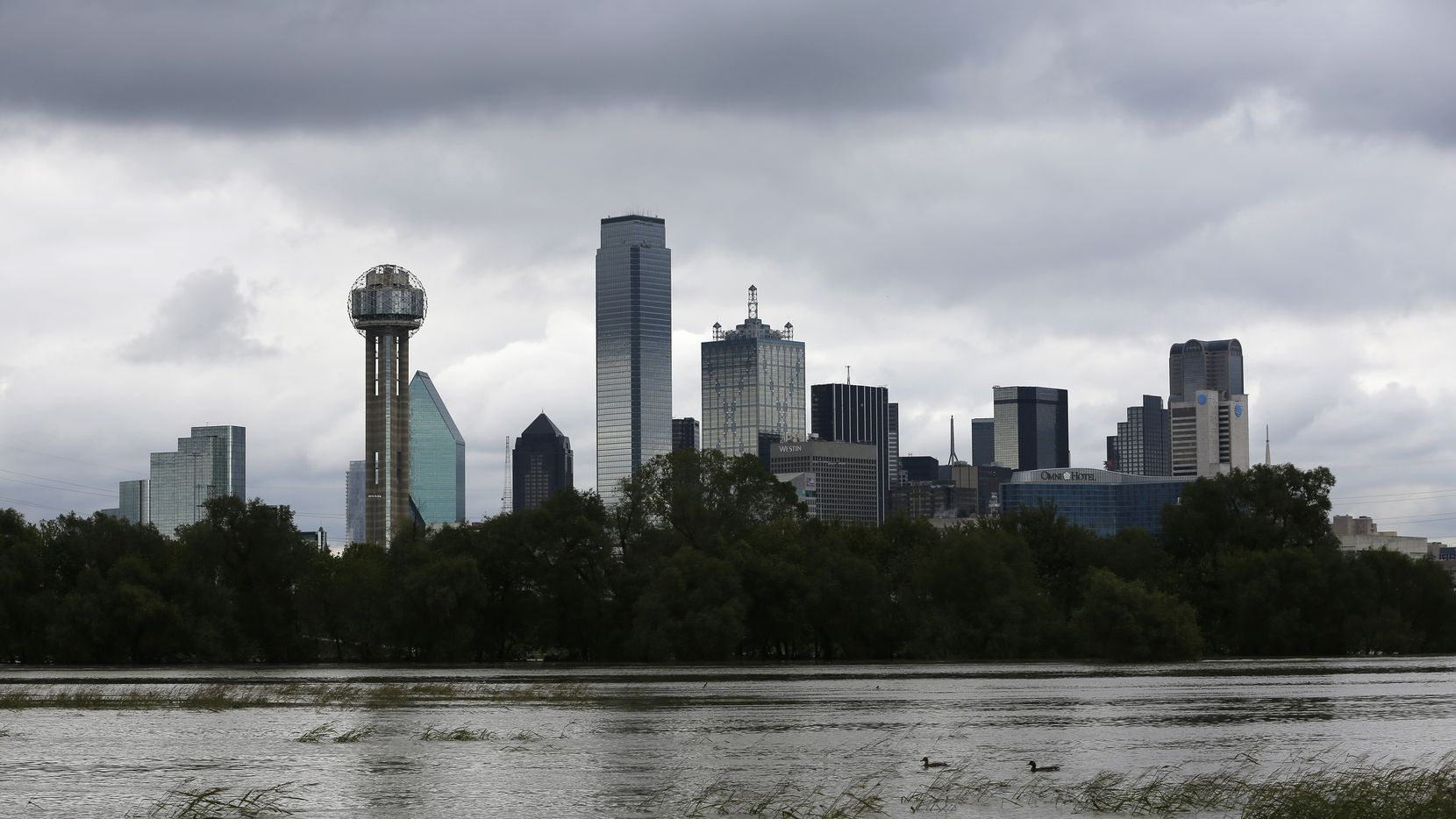 Trinity River was rain-swollen on Oct. 25. A soggy September and October in D-FW made for the wettest fall on record.