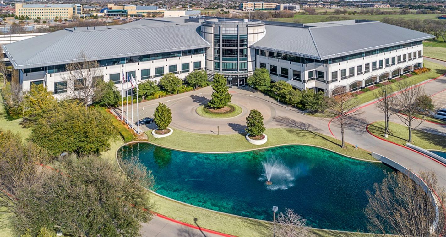 The office campus was built in 1998 as the headquarters of Dr Pepper.