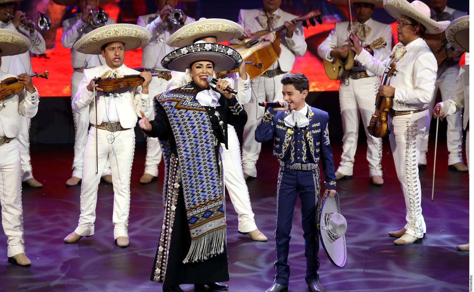 Aída Cuevas  durante un concierto en marzo en la Ciudad de  México.(AGENCIA REFORMA)