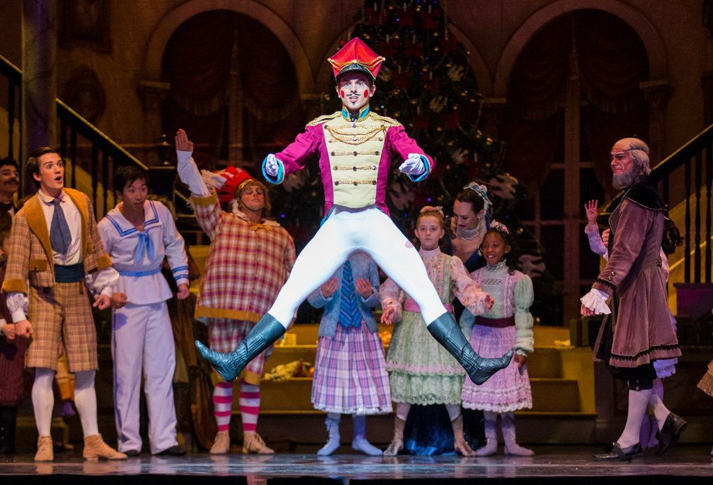 Drake Humphreys performs as the Nutcracker during a dress rehearsal of Texas Ballet Theater's production at Winspear Opera House.