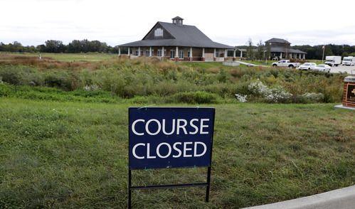 Campo cerca del Coldwater Golf Links donde fue encontrado el cuerpo. (AP Photo/Charlie Neibergall)
