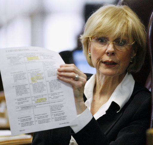 """Geraldine """"Tincy"""" Miller of Dallas is retiring from the State Board of Education after 32 years. In a board debate of reading standards in 2008, she successfully helped blunt a drive by social conservatives to specify which novels English teachers could use in Texas public schools. (AP File Photo/Harry Cabluck)"""