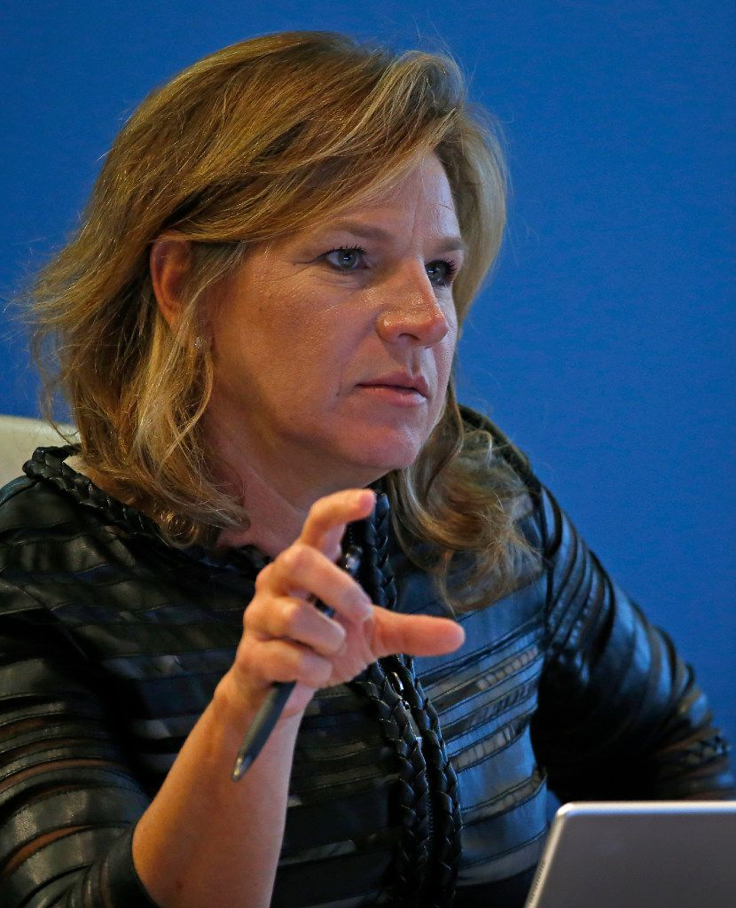 City Council member Jennifer Staubach Gates spoke during a Board of Trustees meeting at Dallas Police and Fire Pension System in Dallas in October. (2016 File Photo/Jae S. Lee)