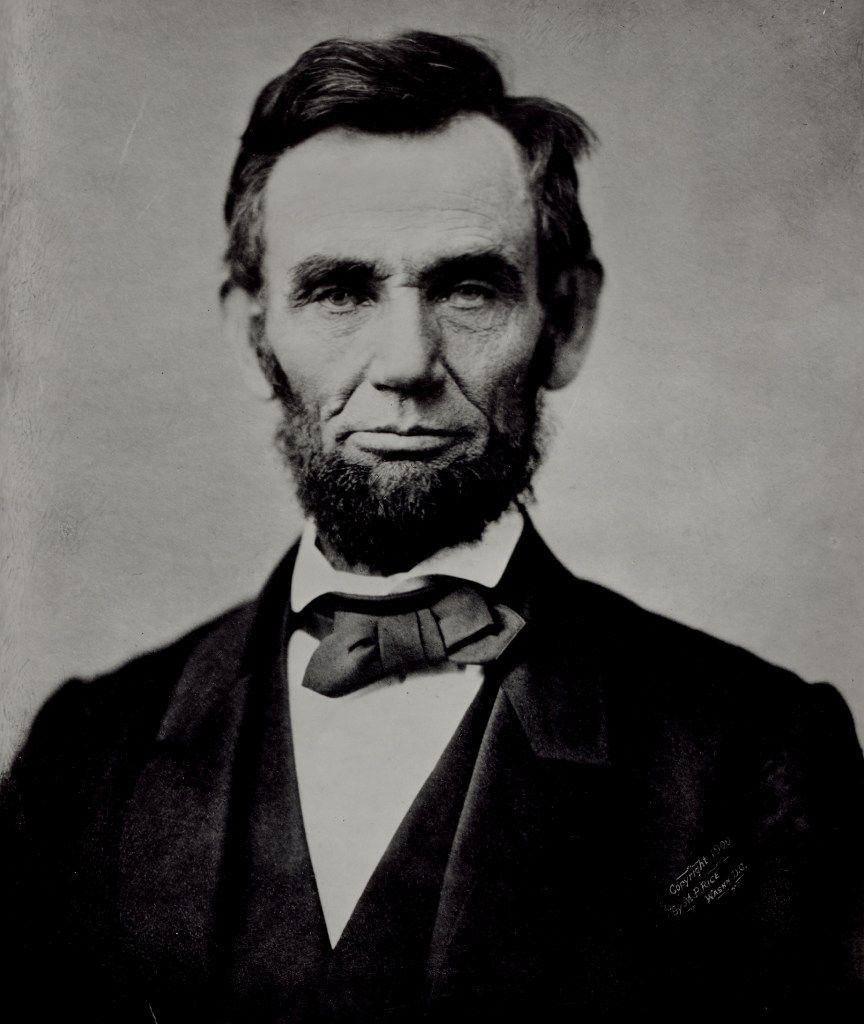 Abraham Lincoln, 16th U.S. president, 1861-65.