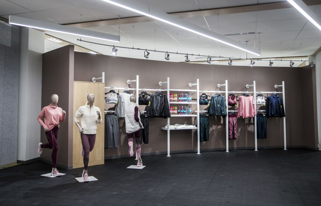 An area where yoga classes will be held inside a JCPenney store on Wednesday, October 30, 2019 at North East Mall in Hurst. (Ashley Landis/The Dallas Morning News)