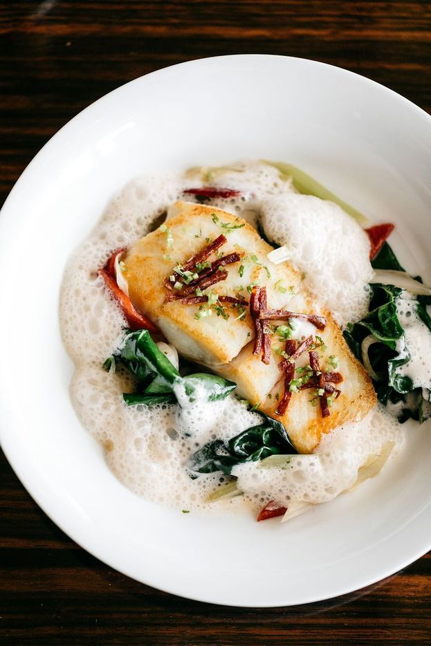 This halibut dish with turnips, grilled spring onion and Champagne beurre blanc is part of Bullion's Mother's Day brunch menu being offered May 12, 2019.