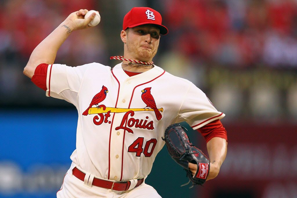 ST. LOUIS, MO - JUNE 22: Starter Shelby Miller #40 of the St. Louis Cardinals pitches against the Texas Rangers at Busch Stadium on June 22, 2013 in St. Louis, Missouri.  (Photo by Dilip Vishwanat/Getty Images) 06232013xSPORTS