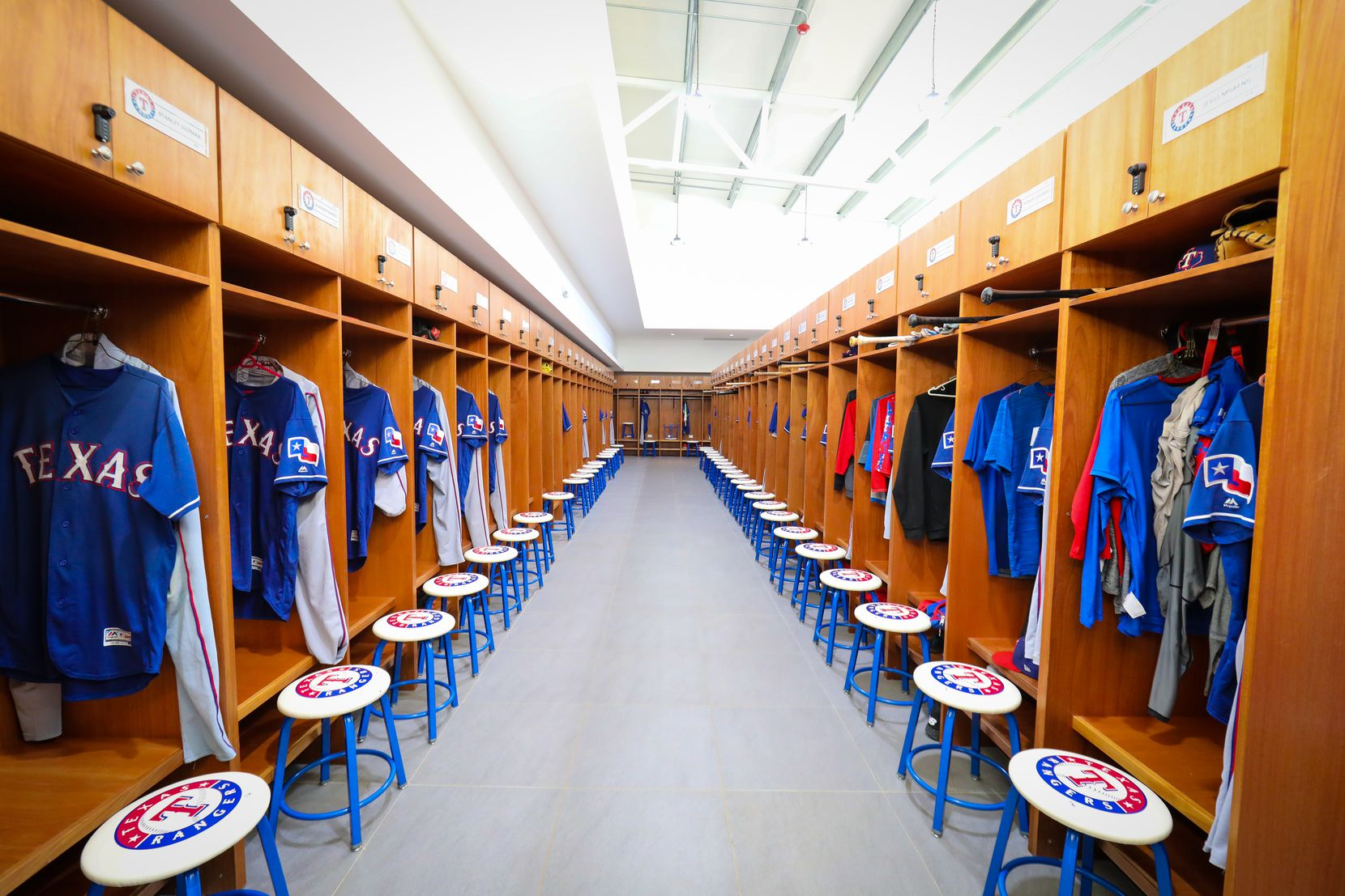 A look inside the clubhouse in the Texas Rangers' new $12.5 million baseball academy located in Boca Chica, Dominican Republic. (Kelly Gavin/Texas Rangers Baseball Club)