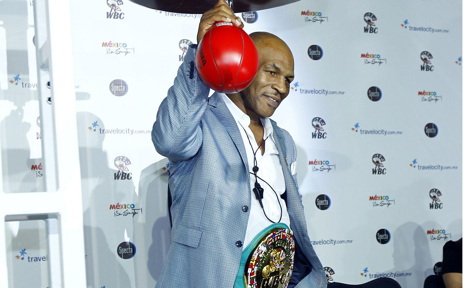 Gabriela Tagliavini aseguró que el ex boxeador Mike Tyson (foto) está encantado con el guión de su próxima cinta./ AGENCIA REFORMA