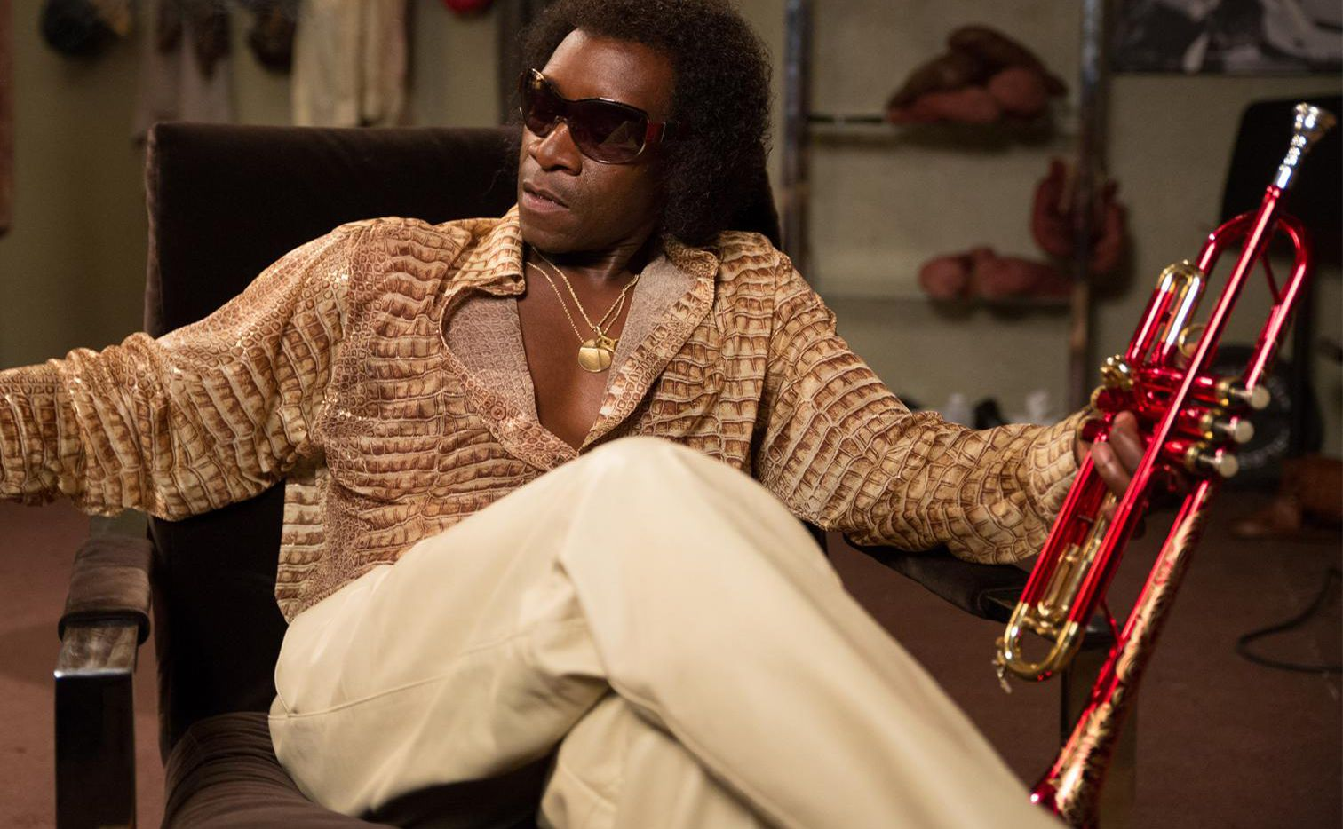 """Don Cheadle as Miles Davis in """"Miles Ahead."""" (Brian Douglas/courtesy of Sony Pictures Classics)"""