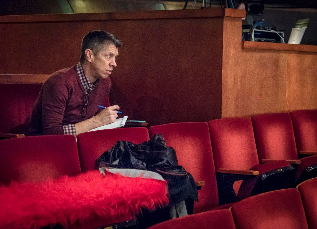 Director Joel Ferrell takes notes during the dress rehearsal of The Christians at the Kalita Humphreys Theater in Dallas, Wednesday, Jan. 25, 2017. (Ron Heflin/Special Contributor)   ORG XMIT: RFH110