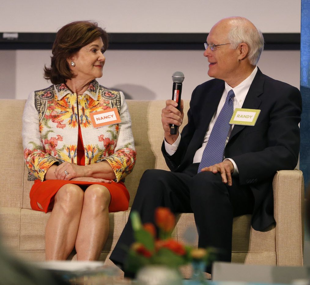 Nancy and Randy Best speak about their collection of art, fossils and ancient artifacts, part of the Eye of the Collector exhibit at the Perot Museum of Nature and Science in Dallas on April 14, 2016.