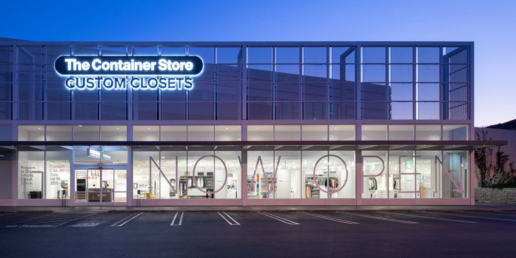 Inside the new Custom Closets store from The Container Store. It opened last week in Los Angeles. The second one opens later this year in North Dallas.