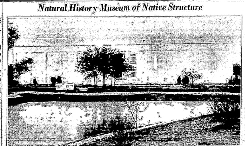 This photo of the Dallas Museum of Natural History was published in The Dallas Morning News in June 1936, when the museum first opened.
