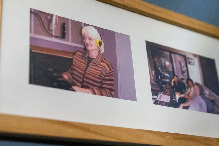 An old photograph of Connie Yates hangs in the in-home recording studio of Yates' radio producer, Dean Bailey.