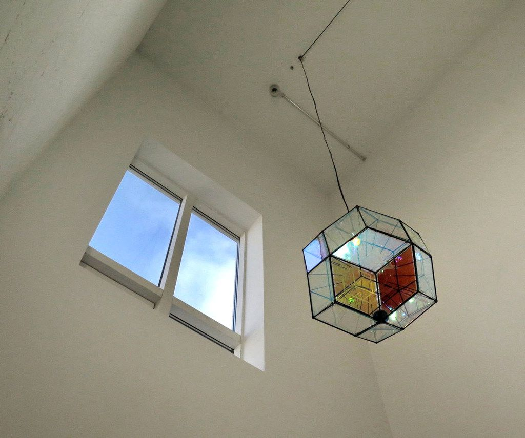 Interior detail of Olafur Eliasson's studio at The Marshall House in Reykjavík, Iceland.