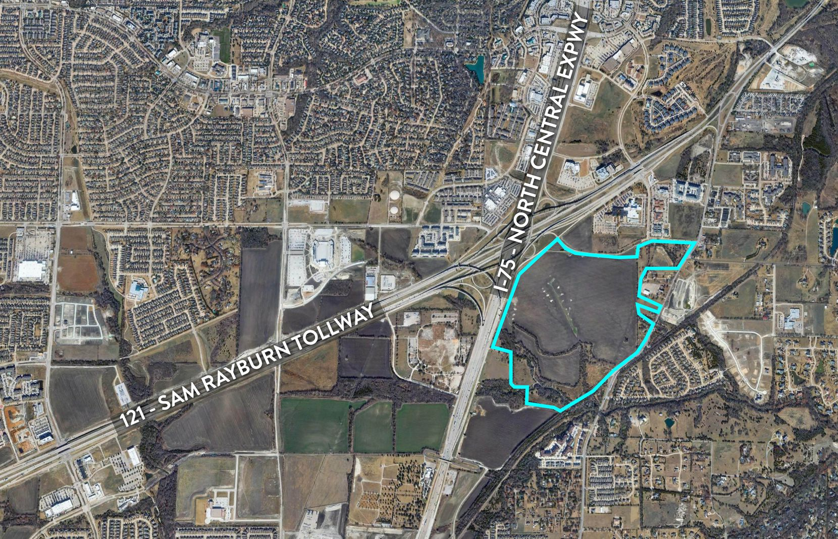The property Billingsley Co. plans to develop is at the southeast corner of U.S. 75 and S.H. 121.