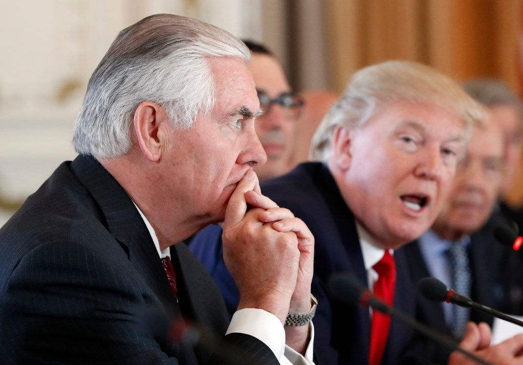 Secretary of State Rex Tillerson tried to subvert President Donald Trump's agenda, according to a new book by Nikki Haley, the former U.S. ambassador to the United Nations. (AP Photo/Alex Brandon)