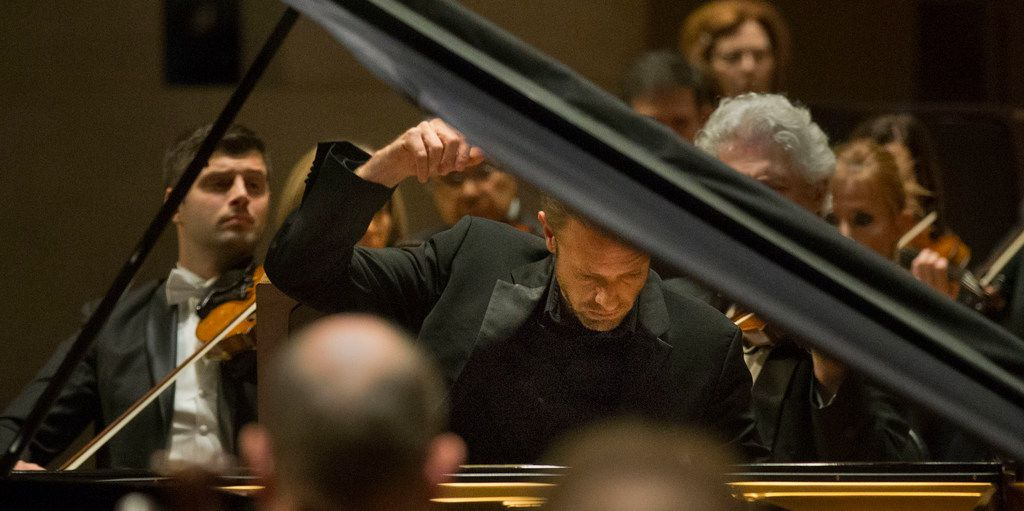 Pianist Andrew Von Oeyen performs  Grieg's Piano Concerto in A minor, Op. 16 with conductor Andrew Grams and the Dallas Symphony Orchestra at the Meyerson Symphony Center in Dallas on Friday, November 23, 2018.