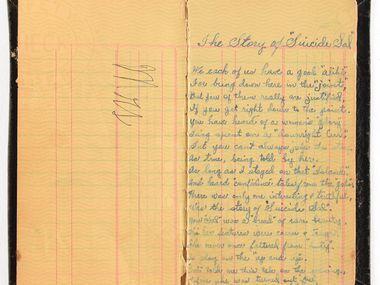 In this July 23, 2019, photo provided by RR Auction, a book of poetry belonging to Bonnie Parker is shown.