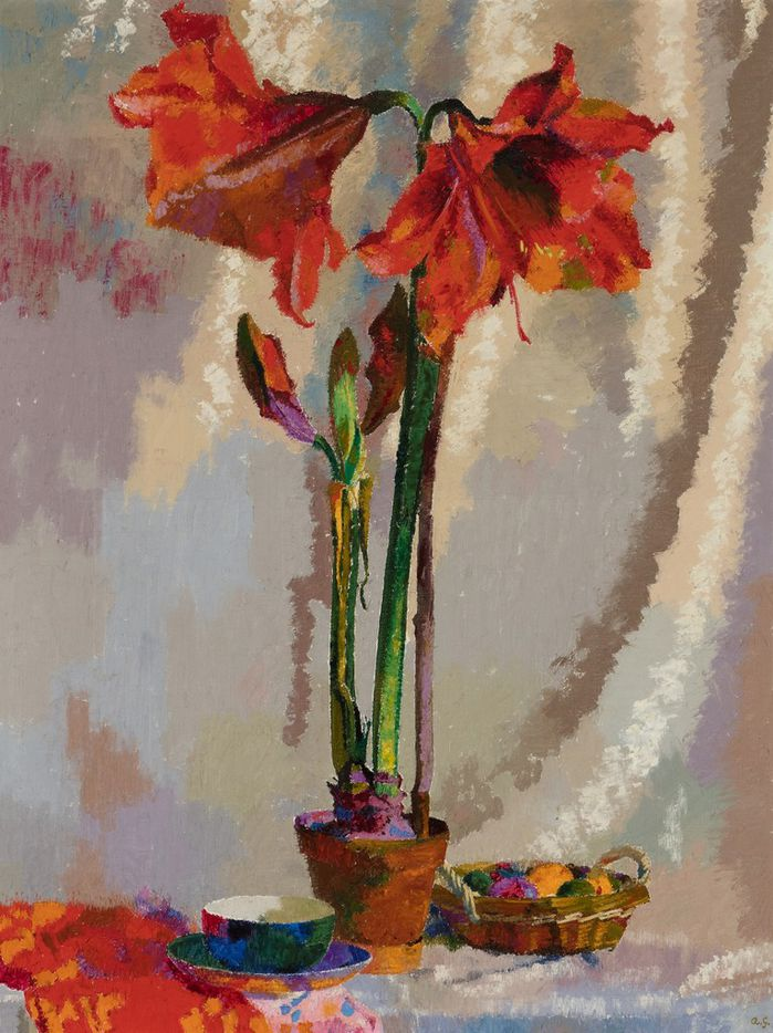 Augusto  Giacometti,  Amaryllis,  1942,  oil  on  canvas,  64  5/8  x  50  1/8.  Courtesy  of  the  Barrett  Collection.