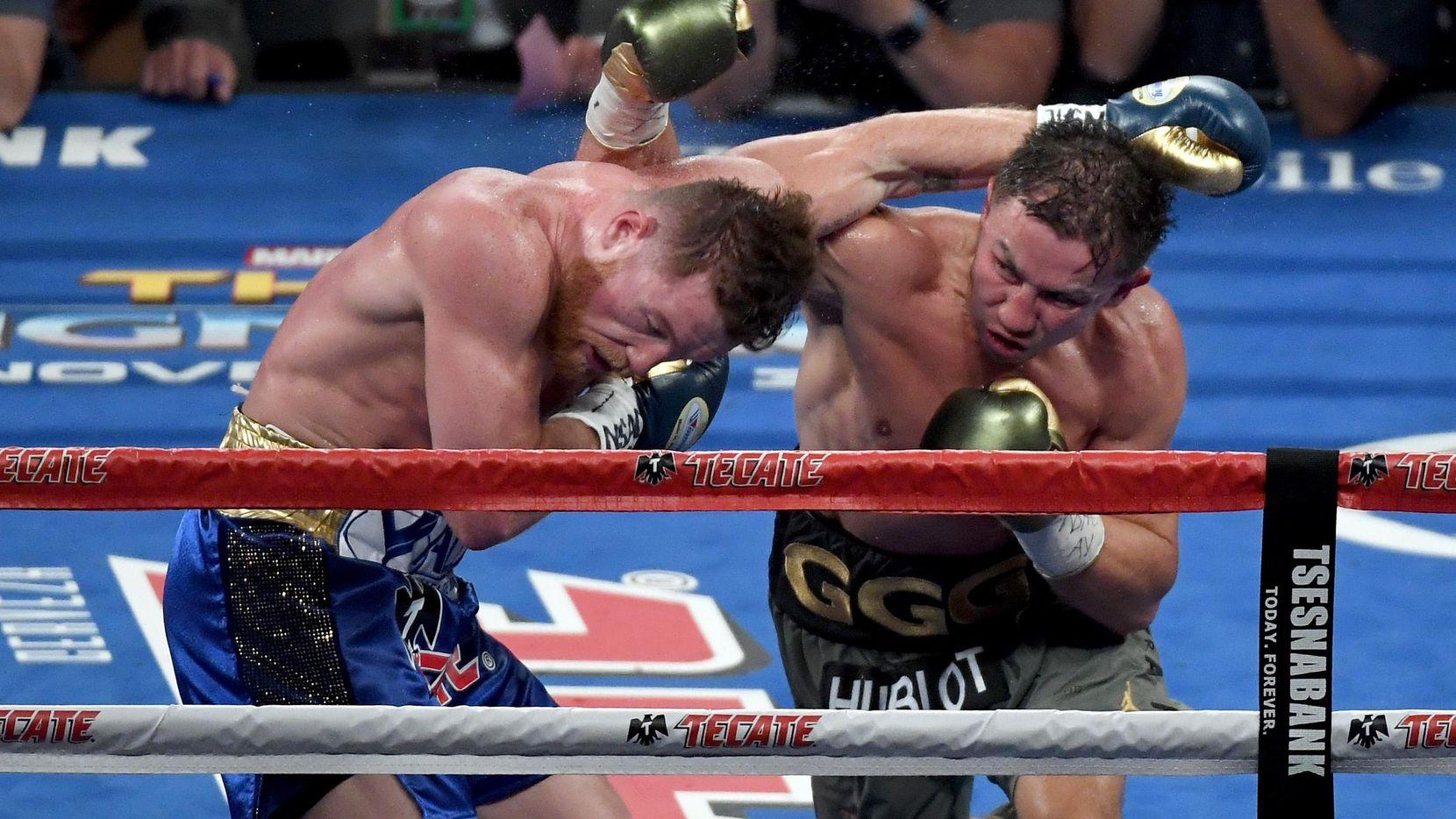 Álvarez y Golovkin se enfrentaron el 16 de septiembre de 2017 en Las Vegas. El combate terminó en empate. (Getty Images/Ethan Miller)