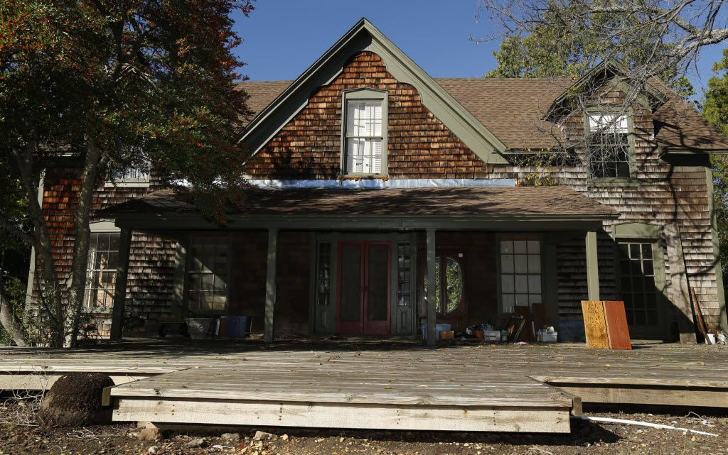 The front exterior of Collinwood House, an historic house that the city of Plano is willing to give away to anyone willing to move it to a new location, in Plano  November 6, 2014. (Nathan Hunsinger/The Dallas Morning News)