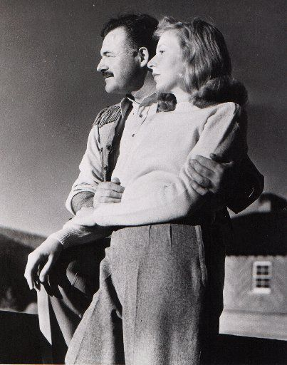 Ernest Hemingway poses with  Martha Gellhorn, writer and war correspondent, at Sun Valley Lodge in Idaho in November 1940, shortly before leaving for Cheyenne, Wyo., where they married on Nov. 21.