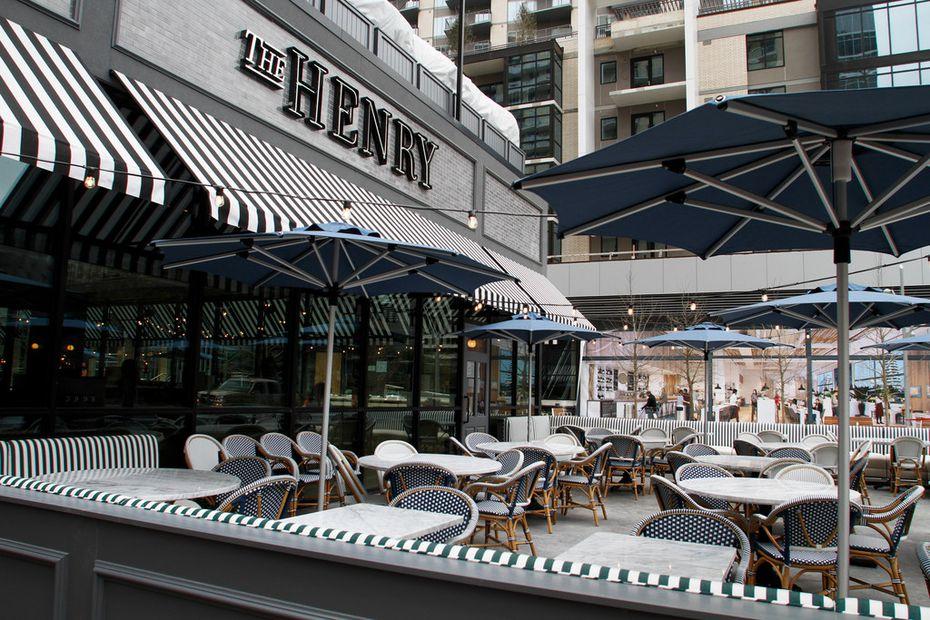 The Henry in Dallas has three patios.