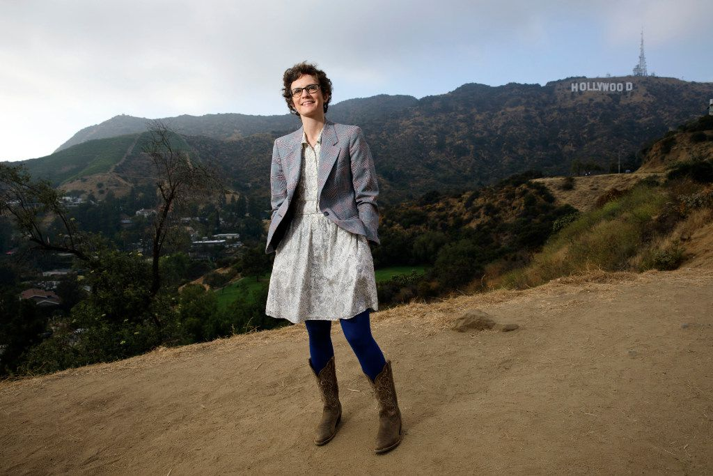 Author Merritt Tierce poses for a portrait near the Hollywood sign on Tuesday, June 6, 2017 in Hollywood. Her first novel, Love Me Back, was a critical hit. And now, Texas novelist Tierce has landed on her feet in Los Angeles. She has a new job as a staff writer on season six of the hit Netflix series Orange is the New Black. (Patrick T. Fallon/ Special to The Dallas Morning News)