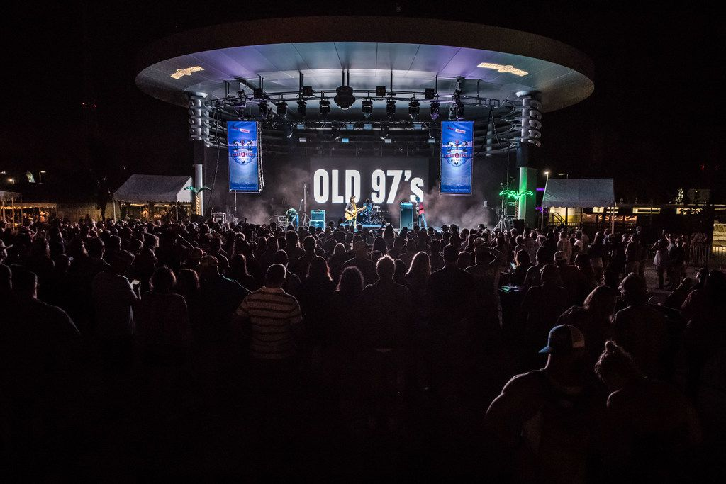 Fans gather to hear the Old 97's at the Truman Waterfront Park Amphitheater, Key West, Fla.