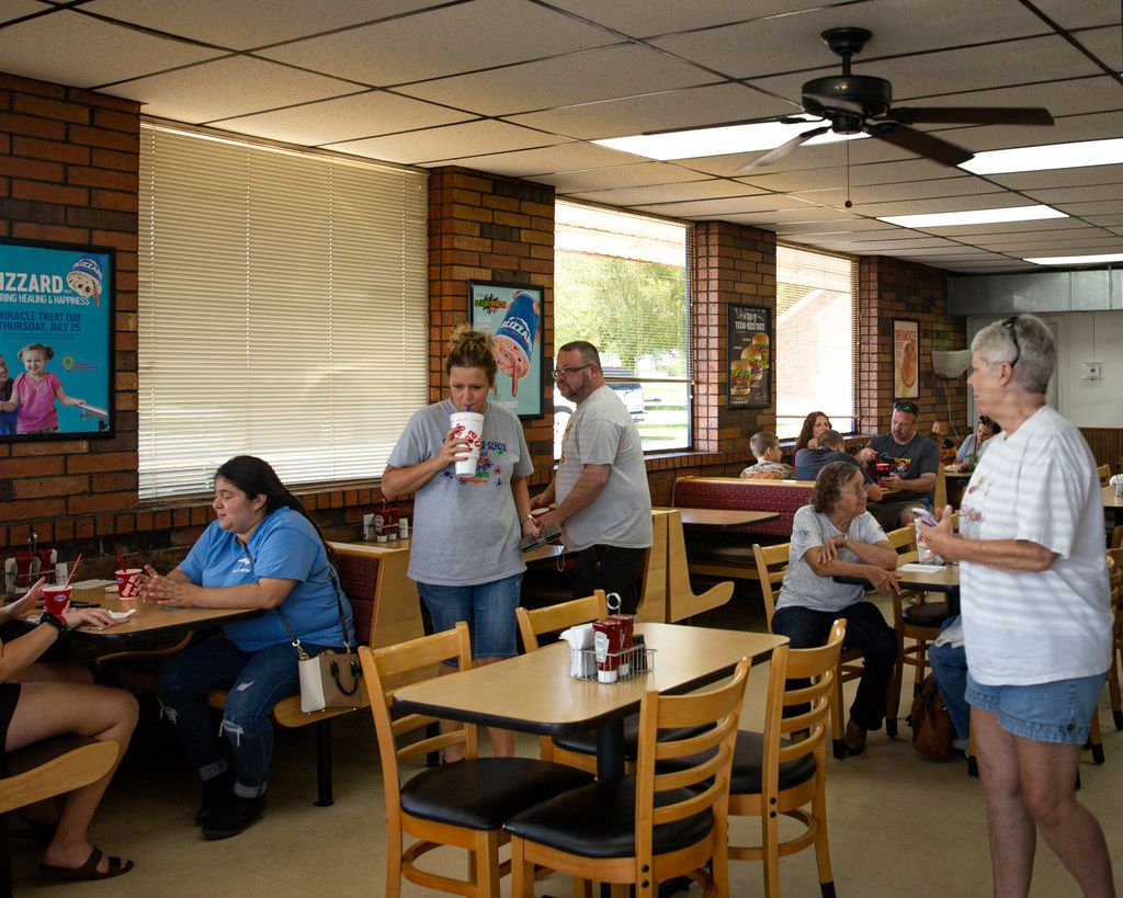 Locals enjoy lunch at the Dairy Queen in Cooper, Texas, on Thursday, July 11, 2019.