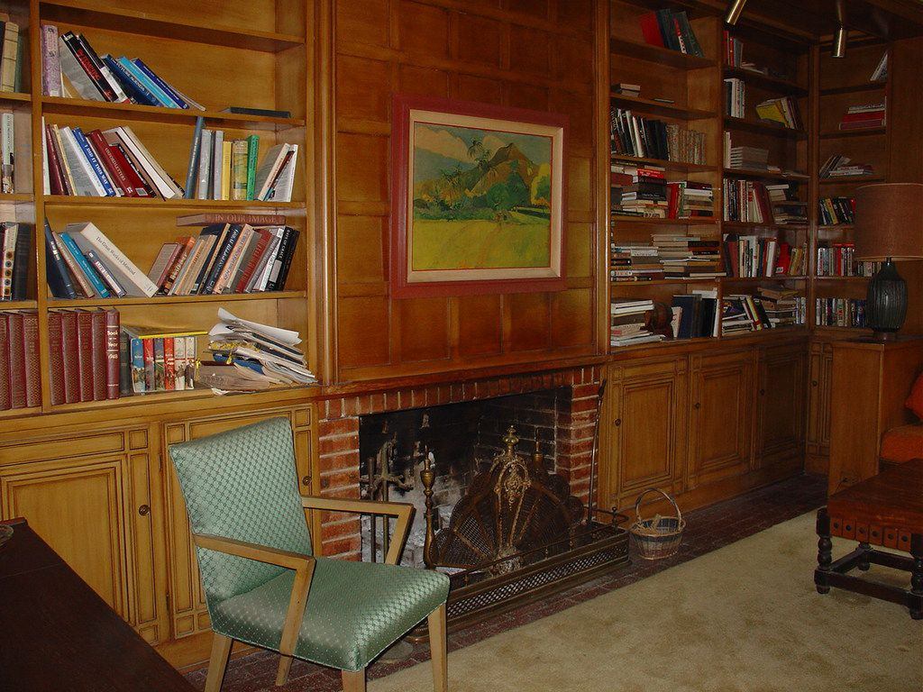 George Fix Jr.'s old study as it looked two years before his death in 2007