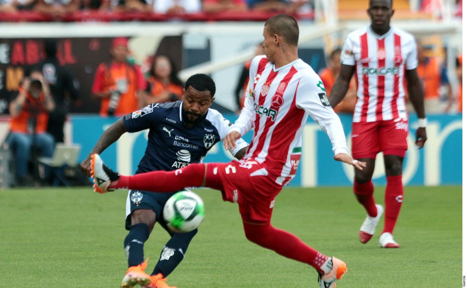 Necaxa venció 1-0 a Monterrey en la liguilla de la Liga MX. AGENCIA REFORMA.