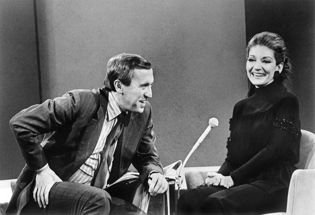 TV interviewer David Frost with Maria Callas