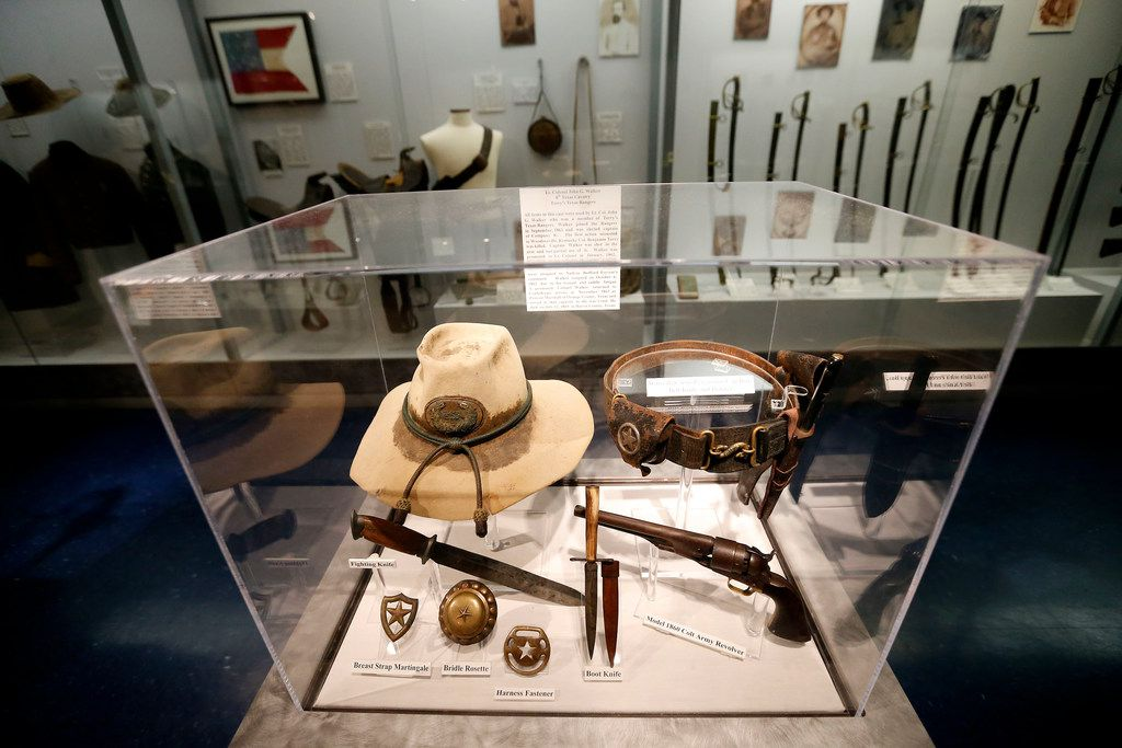 Items used by Lt. Col. John G. Walker, a member of Terry's Texas Rangers, at the Texas Civil War Museum in White Settlement.
