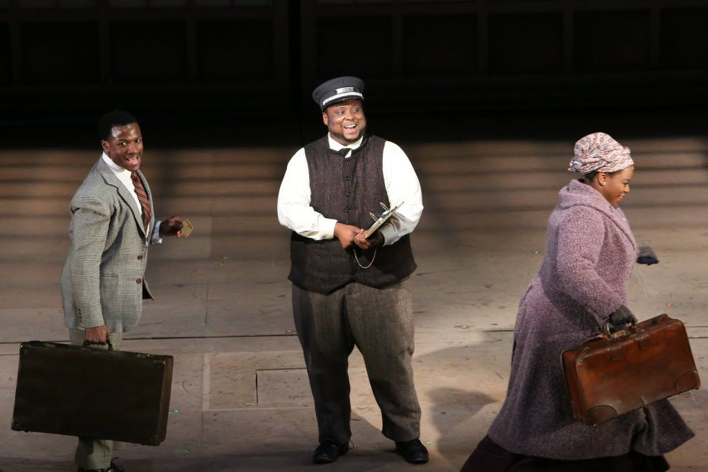 From left: Tyrone Davis, Jr., Major Attaway and Tiffany Mann in Dallas Theater Center's Stagger Lee in 2015.