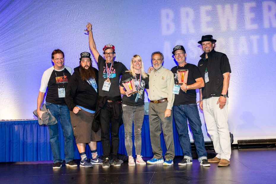 Austin Beer Garden Brewing Co. was named large brewpub of the year at the Great American Beer Festival 2016 competition awards ceremony in Denver on Oct. 8, 2016.