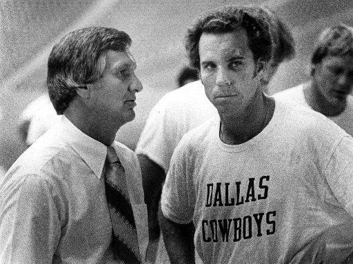 Roger Staubach with Gil Brandt