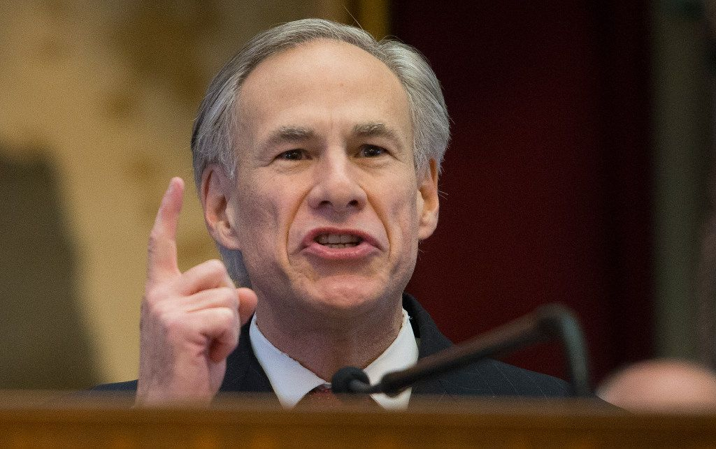 Texas Gov. Greg Abbott delivers his State of the State address to a joint session of the House and Senate at the Texas Capitol in Austin. (Stephen Spillman/The Associated Press)