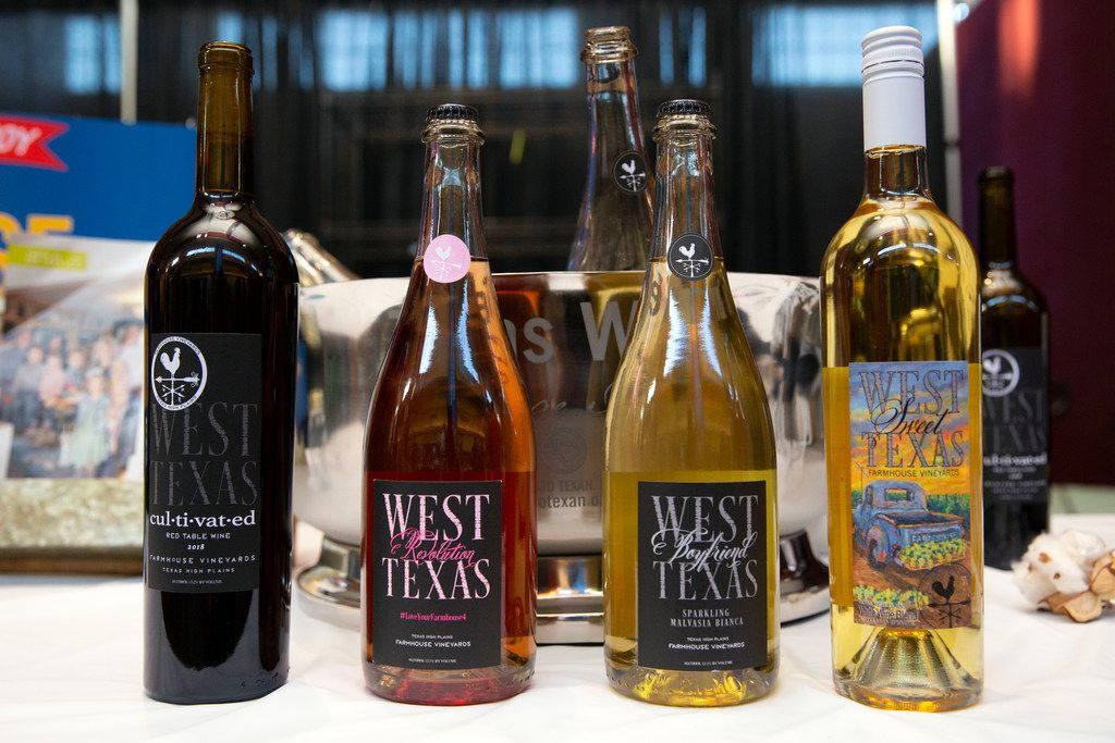 Farmhouse Vineyards wines are shown at the Go Texan Pavilion at State Fair of Texas in Dallas.