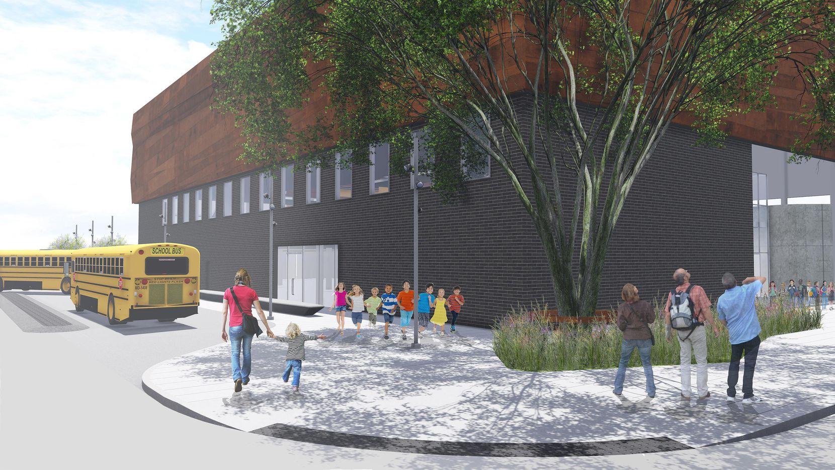 Esta imagen digital muestra un detalle del nuevo museo del Holocausto y Derechos Humanos en Dallas. (DMN/OMNIPLAN ARCHITECTS)